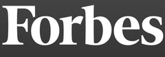 Forbes typefont Logo, gray background
