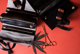 Rogue Paq rollout leather cannabis case, red background