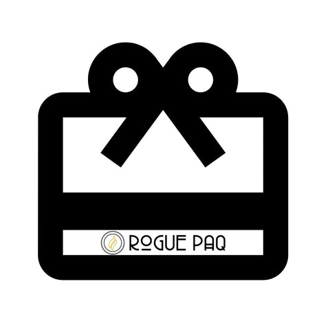 Rogue Paq Black Gift Card Icon with Logo