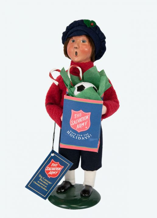Salvation Army Boy Shopper