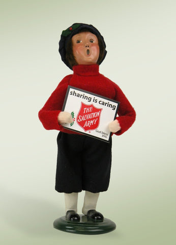 Salvation Army Boy with Sign