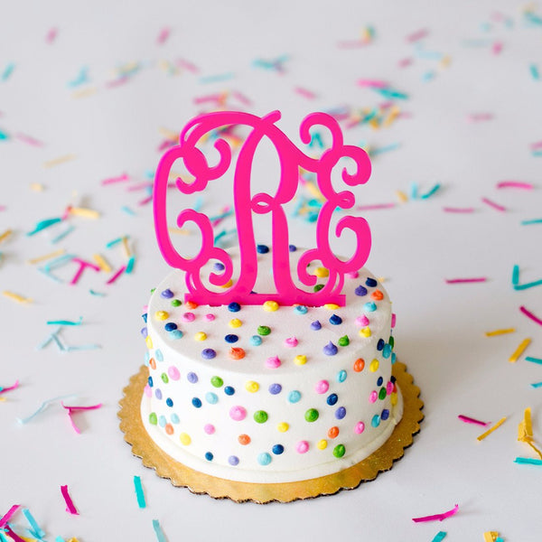 Monogram Cake Topper | 16 Colors | 119 Gift Co.