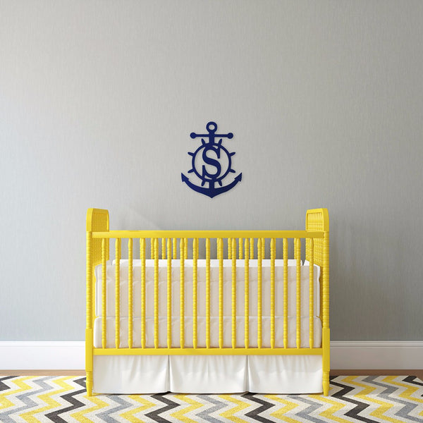 Wooden Anchor Monogram | Single Initial | 119 Gift Co.