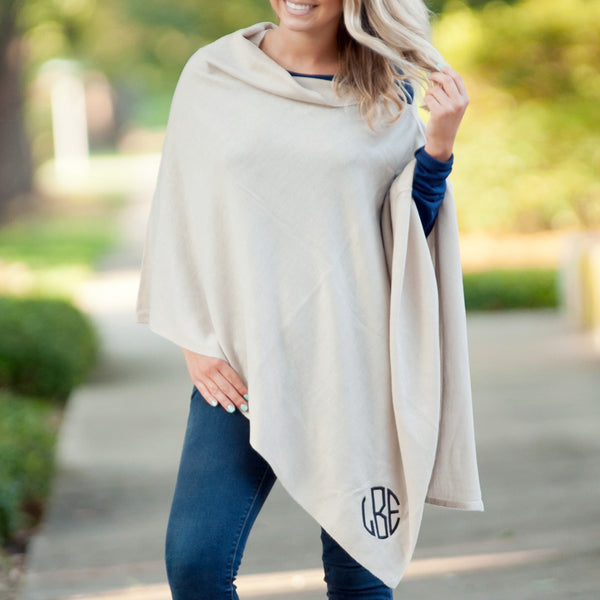 Personalized Poncho in Creme | 119 Gift Co.