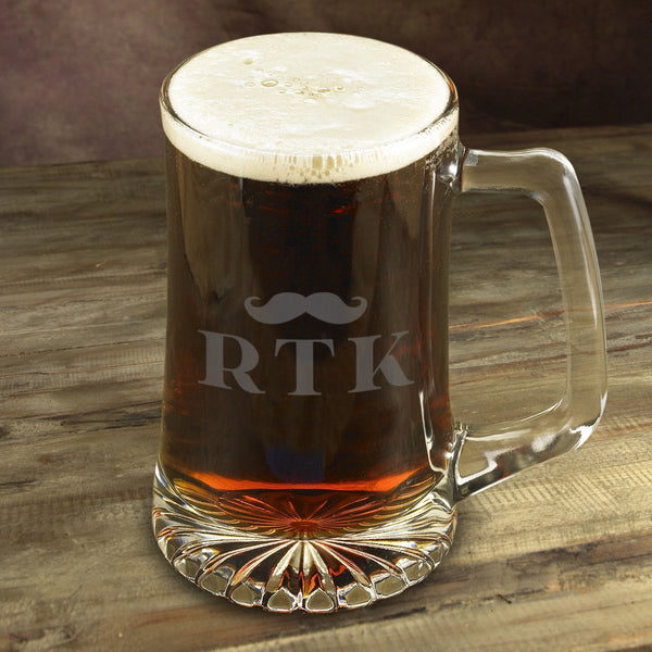 Personalized Etched Mug - Mustache - 119 Gift Co.