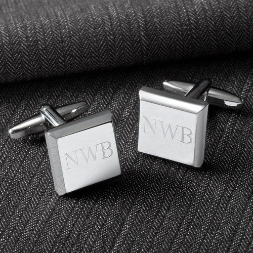 Engraved Modern Cufflinks - Square-Cufflinks-119 Gift Co.