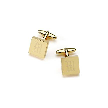 Monogrammed Brass Cufflinks - 119 Gift Co.  - 2