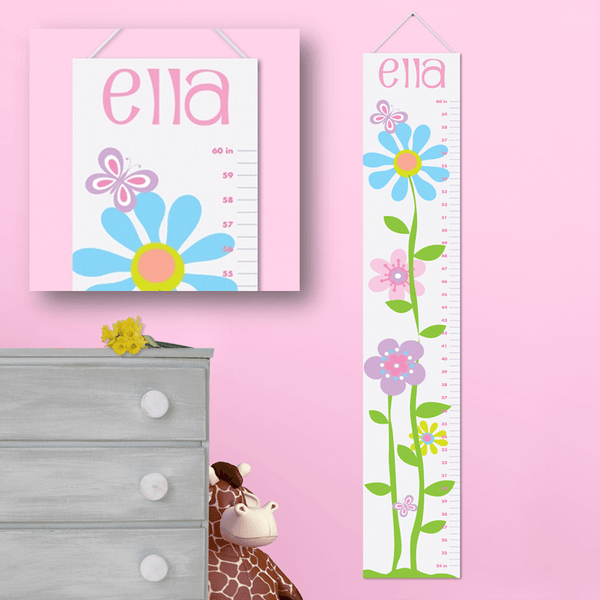 Personalized Girls Growth Chart - 18 Designs - 119 Gift Co.  - 1