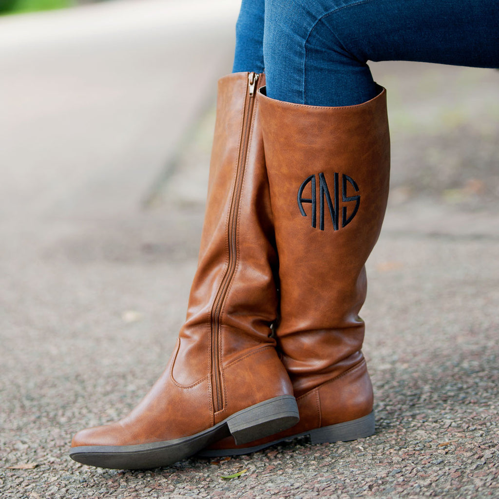 Monogrammed Boots | Brown | 119 Gift Co.