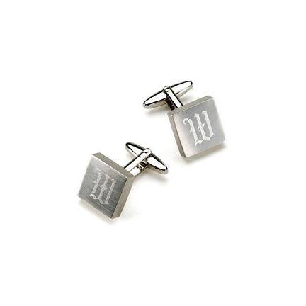 Personalized Cufflinks - Brushed Silver - 119 Gift Co.