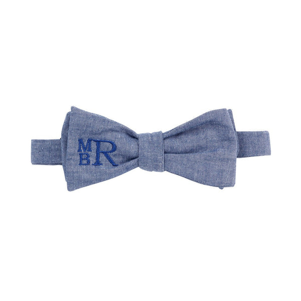 Chambray Bow Tie | Multiple Personalization Options-bow tie-119 Gift Co.