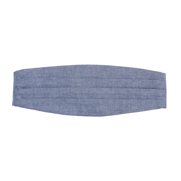 Personalized Chambray Cummerbund | Plain | 119 Gift Co.
