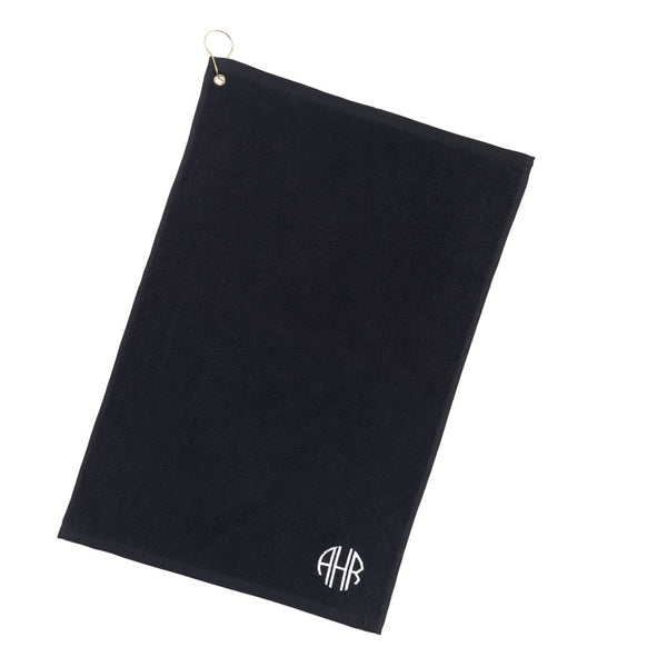 Black Personalized Golf Towel | 119 Gift Co.
