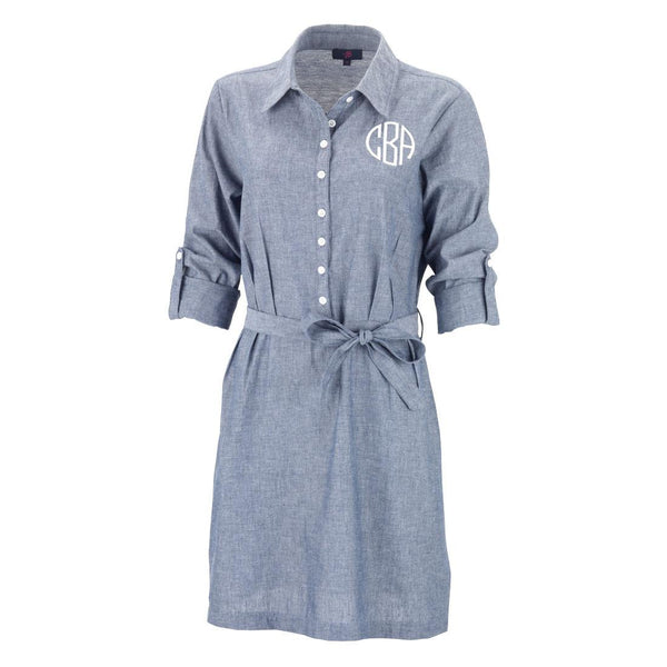 Monogrammed Chambray Dress | 119 Gift Co.