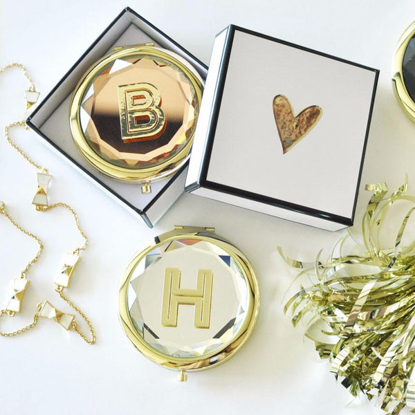 Monogram Compact Mirror | 119 Gift Co.