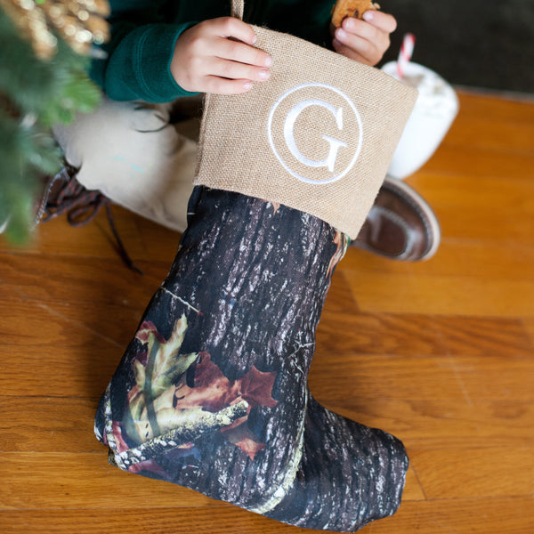 Personalized Camouflage Christmas Stocking | 119 Gift Co.