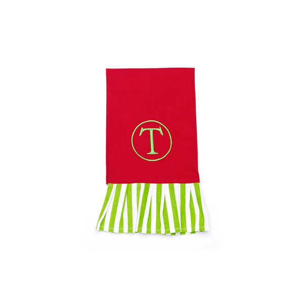 Christmas Kitchen Towels with Monogram