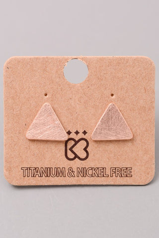 Dainty Triangle Earrings