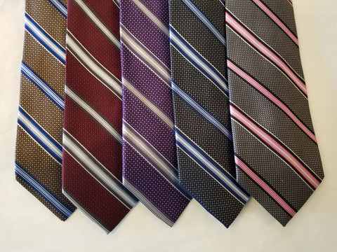 Striped Silk Ties X-Long