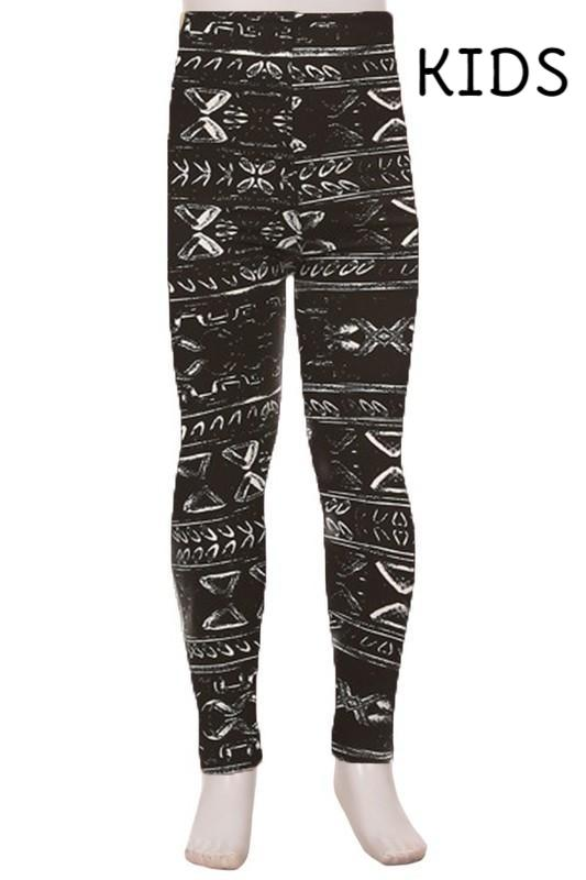 Black and Ivory Aztec Leggings
