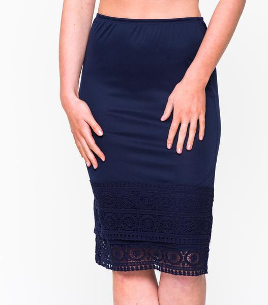 Geometric Lace Skirt Extender Navy