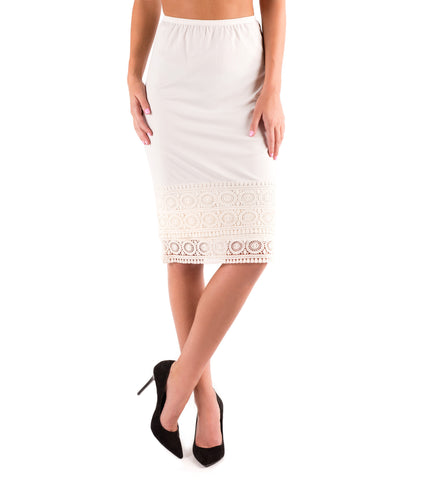 Pencil Skirt Extender Slip Egret