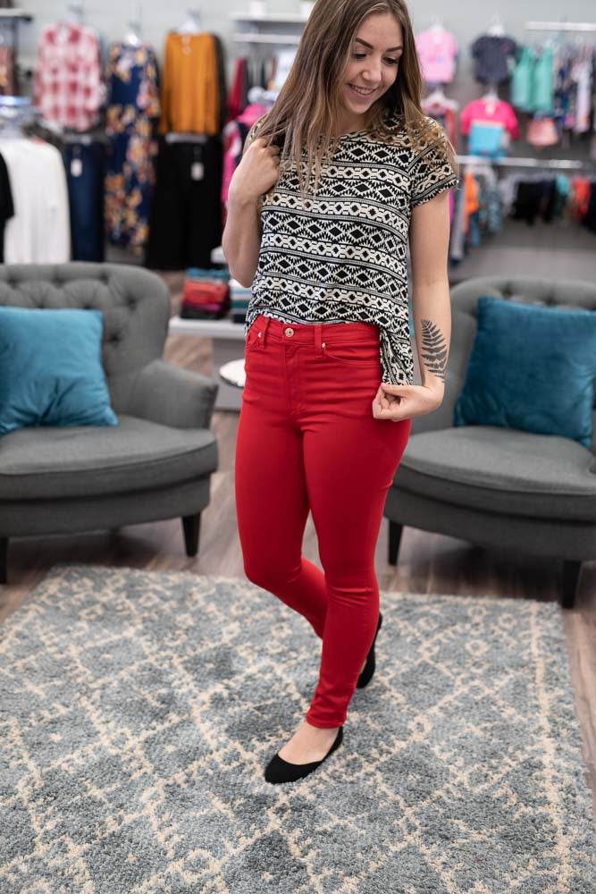 KanCan Red Skinny Jeans