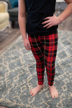 Girls London Plaid Leggings