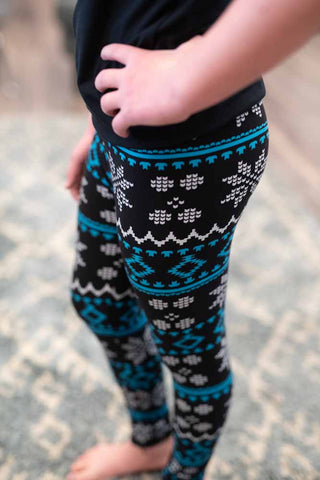 Girls Snowy Leggings
