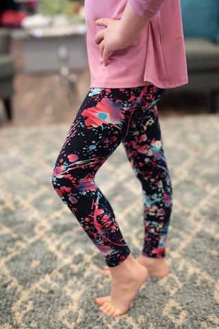 Girls Paint Splatter Leggings