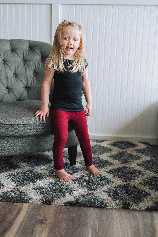 Girls' Solid Leggings