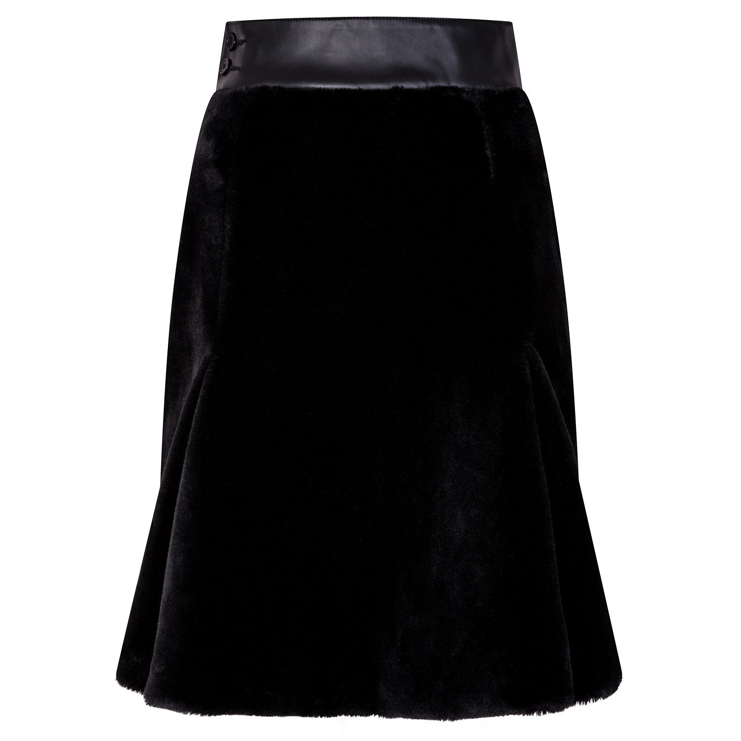BLACK KNEE PROTECT SKIRT