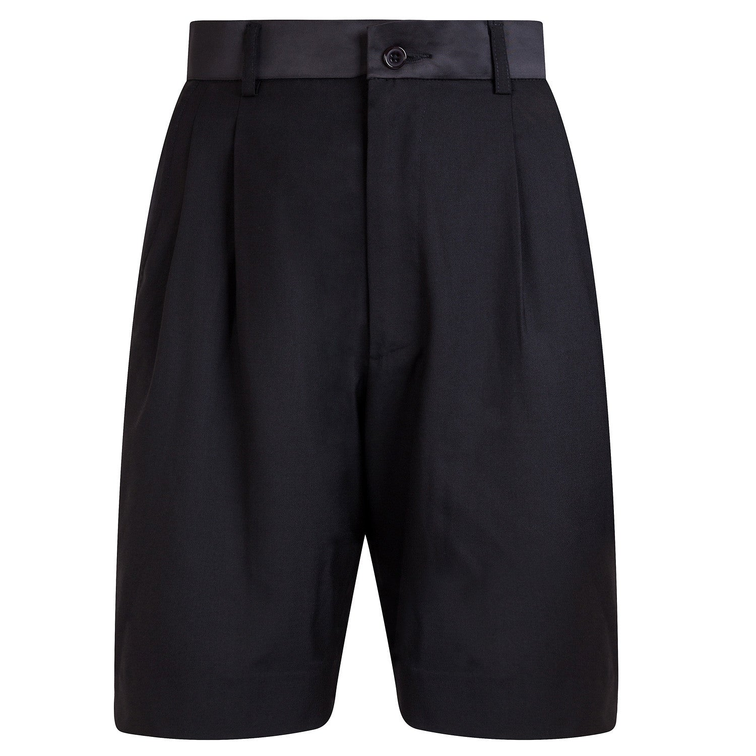 BLACK TAILORED SHORT
