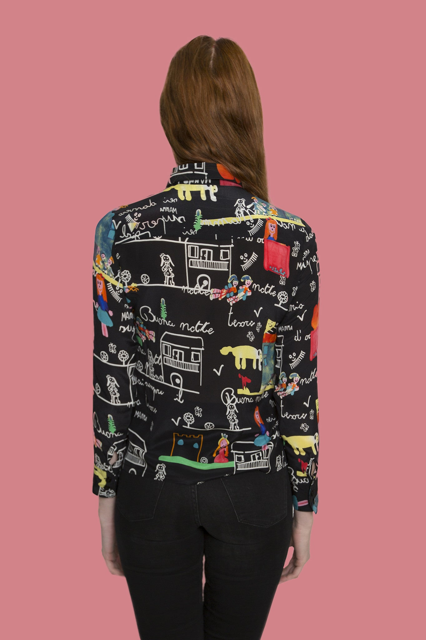 Forest Sweet drawing long sleeve shirt