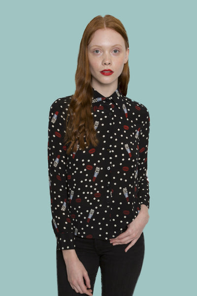 Lipsticks x Dots long sleeve shirt
