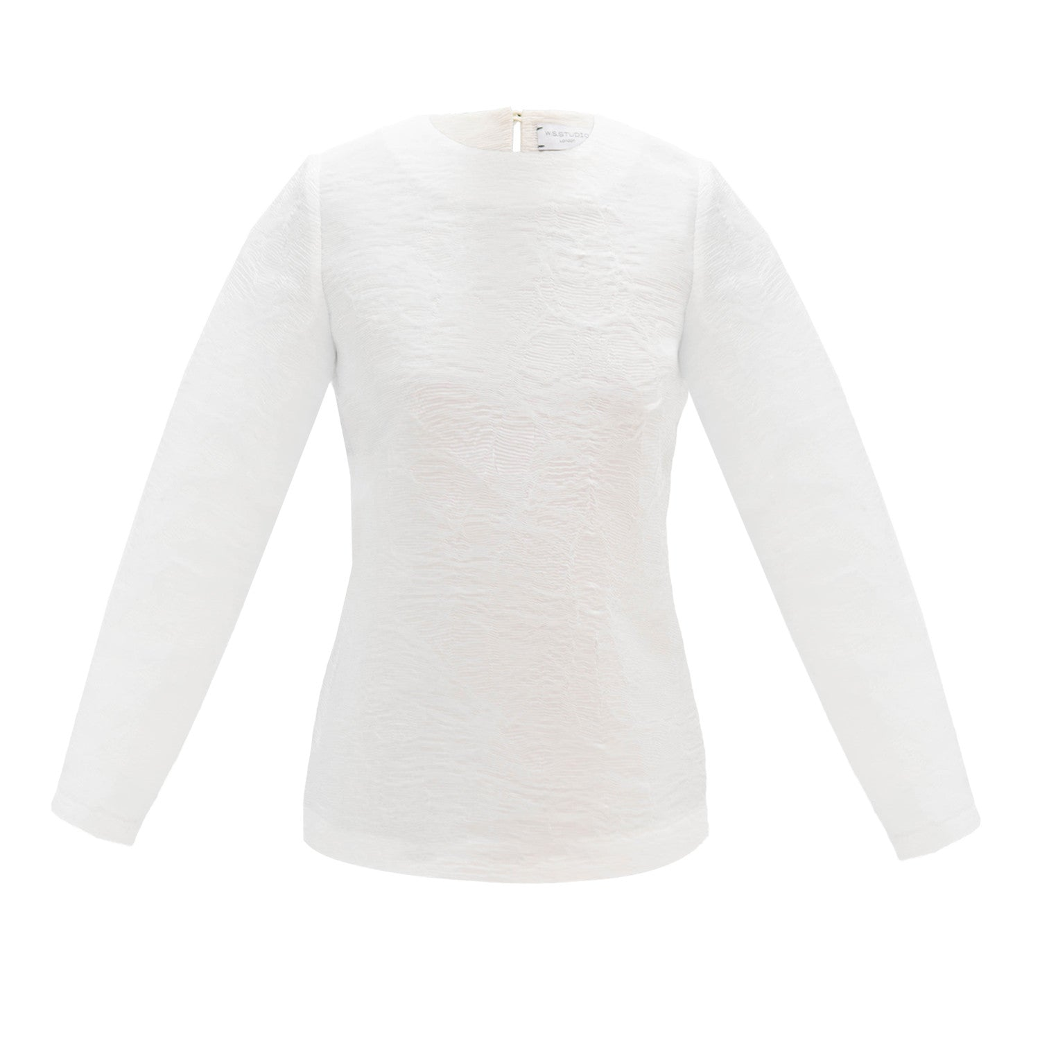 White 'tissue paper' top