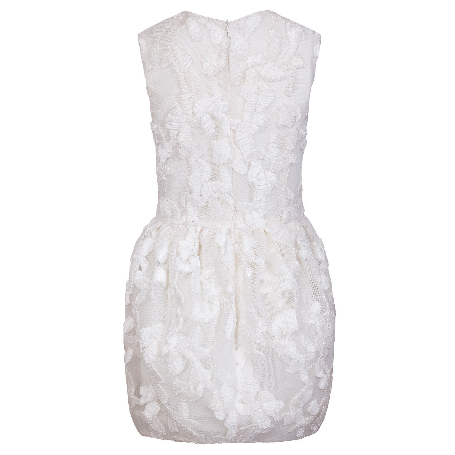 [Limit Edtion] White floral embroidery dress