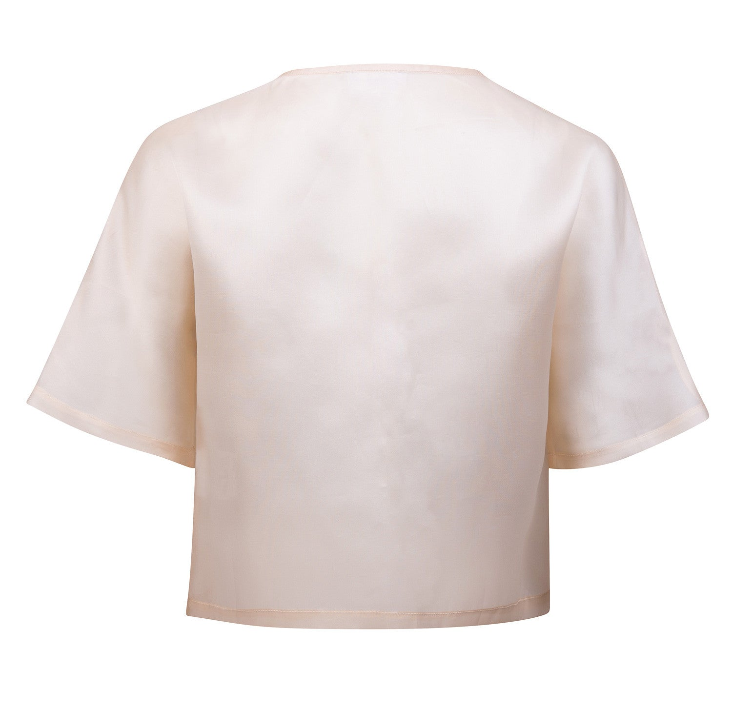 Bi-color double pleats organza top