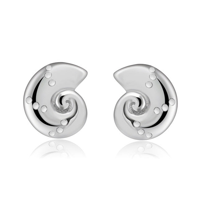 YAN & LEI Sterling Silver Sea Snail Stud Earrings Color Silver