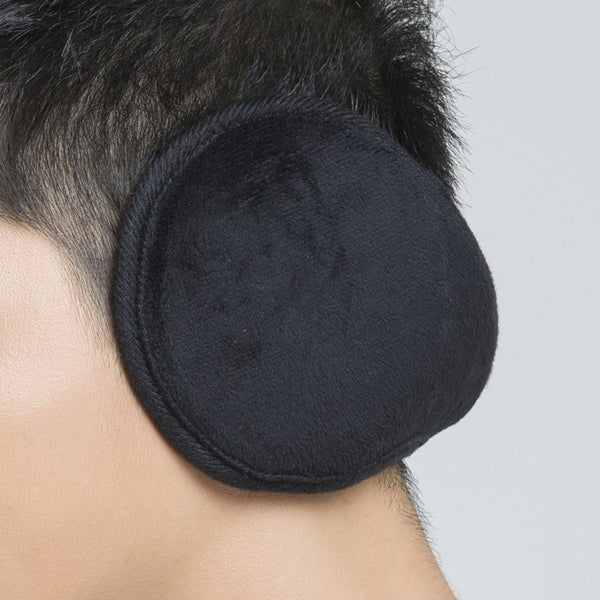 Cozy Design Men's Winter Black Ear Warmers