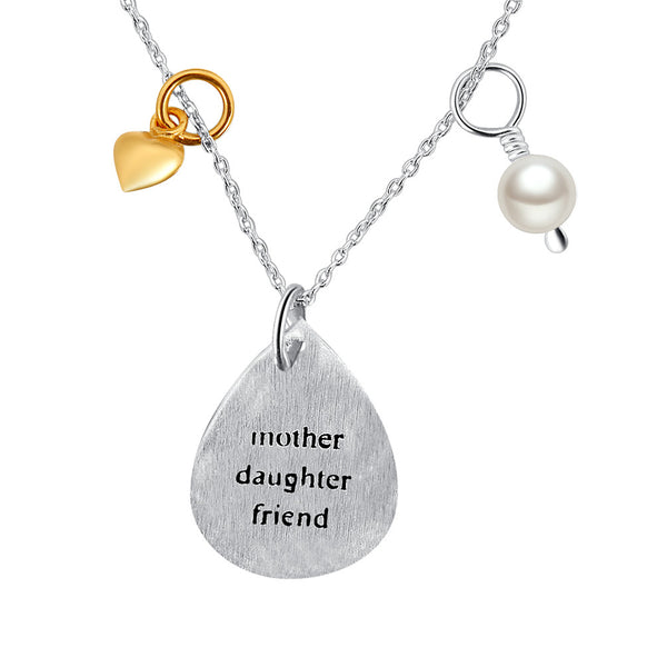 "YAN & LEI Women's 18"" Sterling Silver Necklace for Mother Daughter Friend"