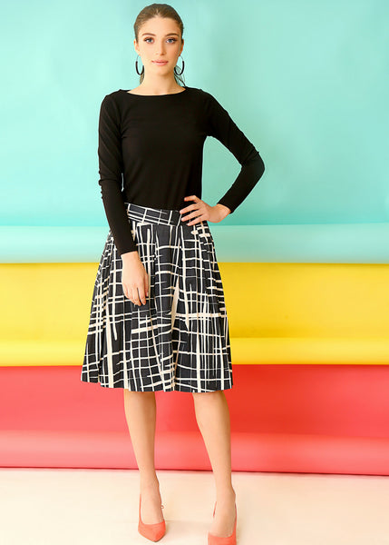 Blue midi skirt with pleates