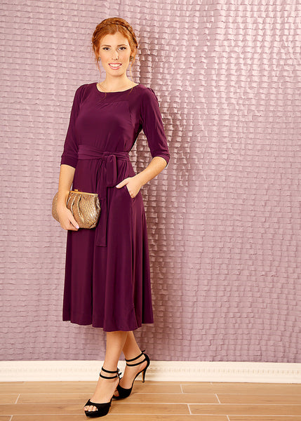 Made to order Cloche party dress with belt
