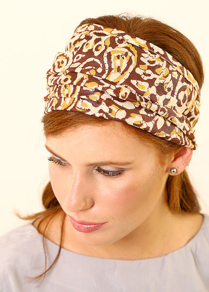 Multi colored bandanna headband