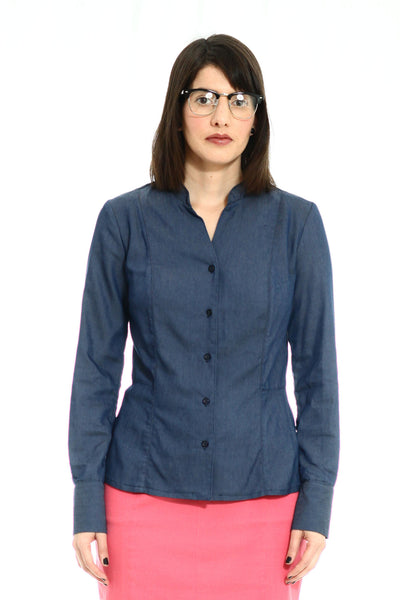 Buttoned Blue denim shirt