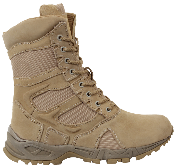 "Rothco Men's Forced Entry 8"" Side Zipper Deployment Boots (5357) / Tactical Boots - Totowa Airsoft"