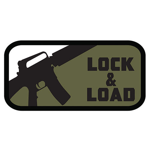 Lock and Load Patch (84P-130) / Morale Patch - Totowa Airsoft