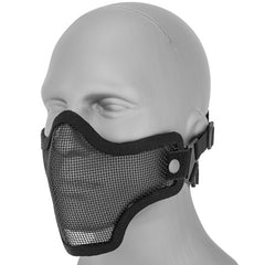 Black Half Face Mesh Mask (MESHMASKH) / Mask - Totowa Airsoft