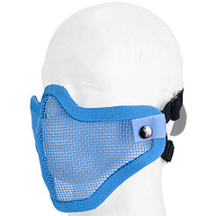 Blue Half Face Mesh Mask (MESHMASKH) / Mask - Totowa Airsoft