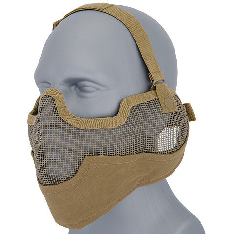 Tan Full Face Mesh Mask (MESHMASKF) / Mask - Totowa Airsoft